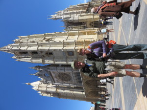 In Front of the Cathedral in Leon