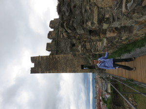 Laurie in Knights Templar Castle in Ponferrada