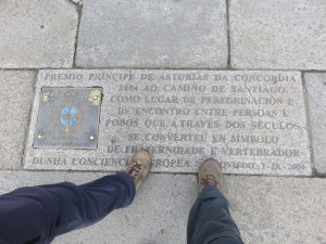 The end of the Camino in Cathedral square