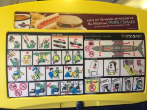 Emergency Cards--Printed on Seat Backs