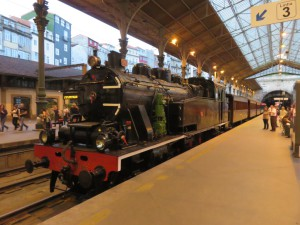 Steam Locomotive in the Sao Bento Train Station