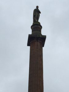 Sir Walter Scott in George Square, Glasgow (dreary day)