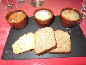 Three types of Irish Stew