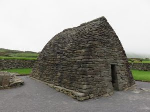 Gallarus Oratory, County Kerry. Similar to remains found on Croagh Patrick