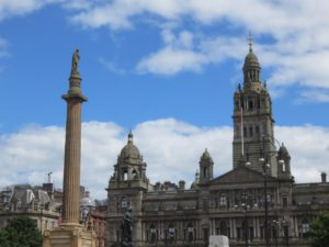 George Square (City Chambers right, Sir Walter Scott, left, no George)