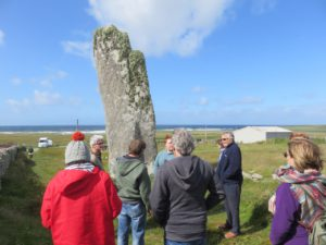 "The ""Clan"" at a standing stone: Isle of Lewis"