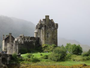 Eileen Donan Castle--rebuilt in the last century