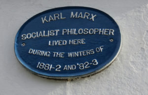 Karl Marx lived right next to our flat--over a 100 years ago.