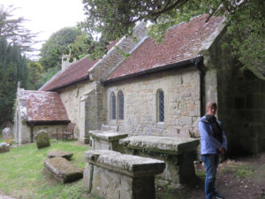 Exploring a local 11th century church