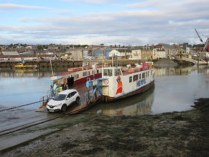 """A """"chain ferry"""" used to cross the river between Cowes and East Cowes on north side of the trail"""