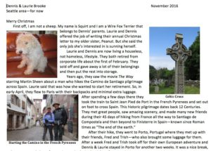 Canine Christmas Letter 2016